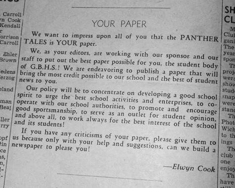 Panther Tales is Your Paper