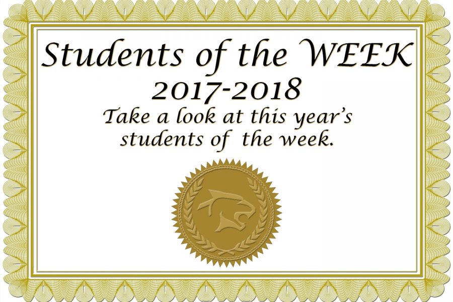 2017-18:  Students of the Week
