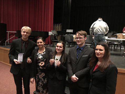 GBHS Speech Team Qualifies One to National Tournament as Coach Watson is Inducted to Coach's Hall of Fame and Kim Heath Receives Recognition as Volunteer of the Year