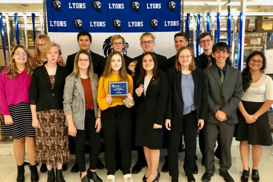 GBHS Debaters take 2nd place at the Lyons Invitational Tournament