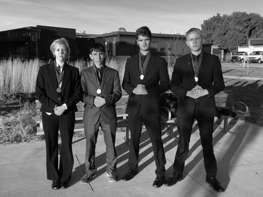 From left to right: CJ Gibson, Malachi Wasson, Daniel Abbott and Patrick Heath