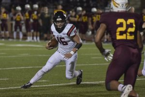 Dalton Miller scrambles to a victory in last years Hays game.