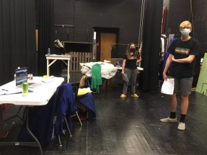 Natalie Williams (Left) and Isaiah Smith (Right) practicing their lines for the play.