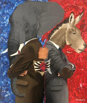 A House Divided - Painting by GBHS 2020 Graduate, Patrick Heath