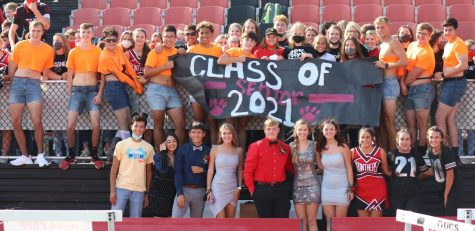 Class of 2021 at the Homecoming pep assembly